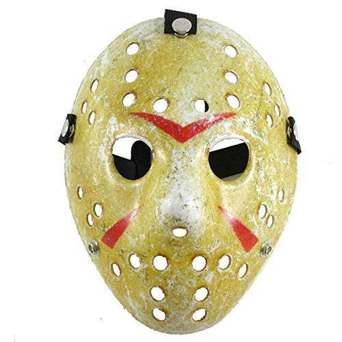 Lovful Costume Mask Cosplay Halloween Prop Party Mask for Adult,Yellow Style,One Size