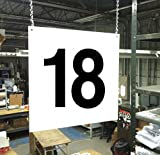 Stranco Inc Hanging Aisle Sign, 18, 1 EA PVC Board HPS-FS1212-18 - 1 Each