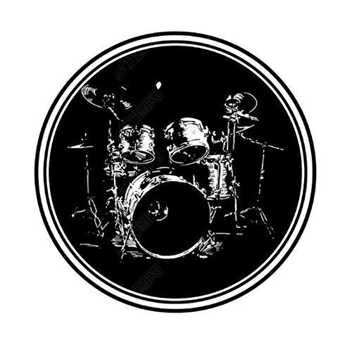 Trommelteppich Schalldichte Schlagzeugteppich Rutschfeste runde Drumteppich Teppich Jazz Elektronische Trommel Für elektronische Trommelsätze Bass Drum Snare und andere Core Set Rutschfeste Teppiche