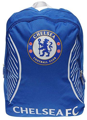Mens Football Club Team Colours Backpack Rucksack Gift Bag (N, Chelsea)