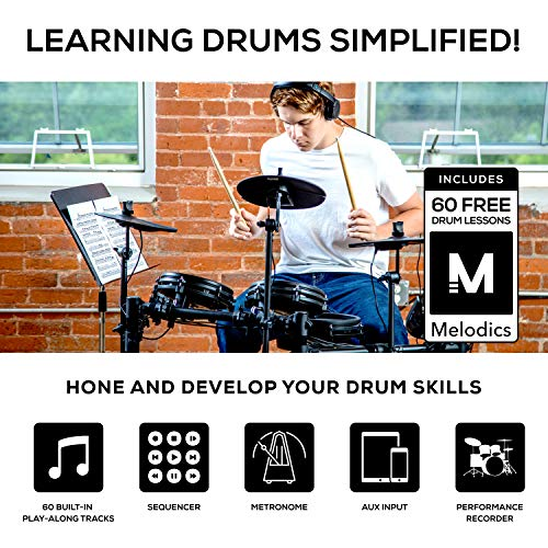 Alesis Drums Nitro Mesh Kit, Eight Piece All Mesh Electronic Drum Kit With Super...