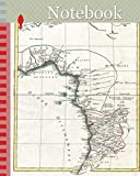 Notebook: 1770, Bonne Map of West Africa, Guinea, the Bight of Benin, Congo, Rigobert Bonne 1727 – 1794, one of the most important cartographers of the late 18th century