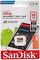 Sandisk 16GB Ultra Microsdhc (Microsd) Memory Card