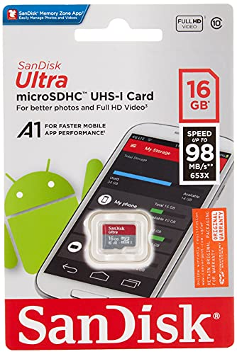 SanDisk 16GB Ultra MicroSDHC Memory Card (SDSQUAR-016G-GN6MN)