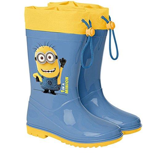 Perletti Gummistiefel / Regenstiefel für Kinder, Schuhgrößen 22 bis 27, Minion-Design