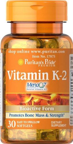Puritan's Pride Vitamine K2 30 Softgels 17875