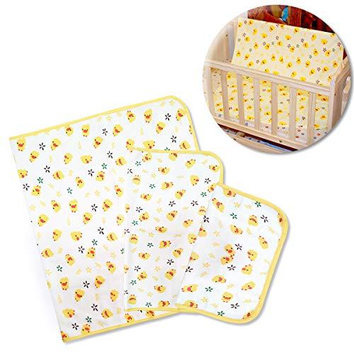 Runaup 3 Pcs Fasciatoio per fasciatoio extra large in cotone lavabile a prova di perdite Impermeabile pannolini per sanitari da fasciatoio per fasciatoio, ottimo per la casa e il viaggio