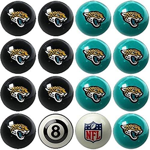 Imperial Offiziell lizenzierte NFL Merchandise: Home vs. Away Billard- / Poolbälle, komplettes Set mit 16 Bällen, Jacksonville Jaguars