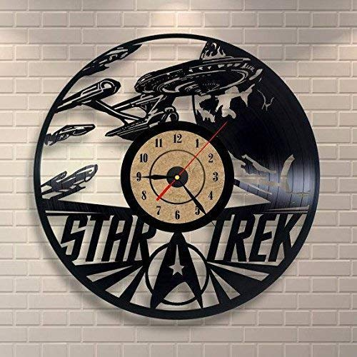 Star Trek Vinyl Record Wall Clock - Get Unique Gifts Presents for Birthday, Christmas, Ideas for Boys, Girls, Men, Women, Adults, him and her