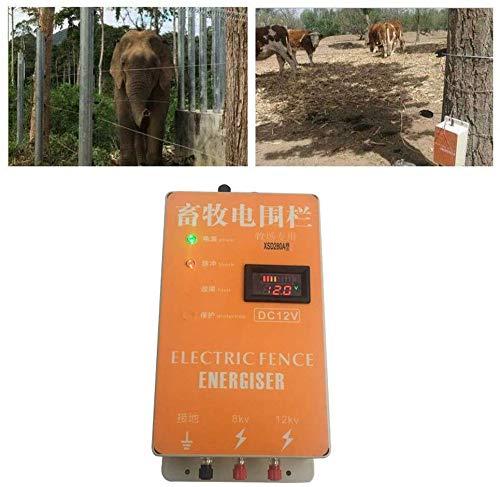Changli Cerco eléctrico Solar Energizador Controlador de Pulso de Alto Voltaje Granja de Animales Cerco eléctrico Pastor Cría Animales Controlador de cercado eléctrico para jardín