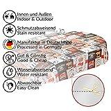 ANRO Wachstuch Tischdecke abwaschbar Wachstuchtischdecke Wachstischdecke BBQ Grill Garten Rot Oval 200x140cm - 7