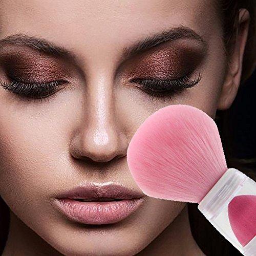 POachers 2 en 1 maquillage base de maquillage cosmétique poudre poudre blush fondation brosses outil-Fondation Poudre pour le visage cosmetique pinceau de maquillage