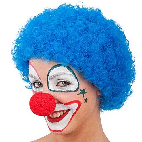 Perruque Disco Bouclé Bleu Adulte - Accessoire Deguisement Clown - 956