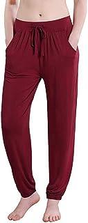 Beiziml Comfy Sport Pants Women High Waist Elastic Waist Jogging Pants Bloomers Active Wear Home Clothes Loose Harem Pants...