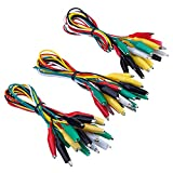 ruikey 10pcs doble Ended Alligator Clip Cable de prueba de cables Jumper color pinzas de cocodrilo sonda conector, 19.7inch (5colores), zuf?llige Farben*30, 50cm