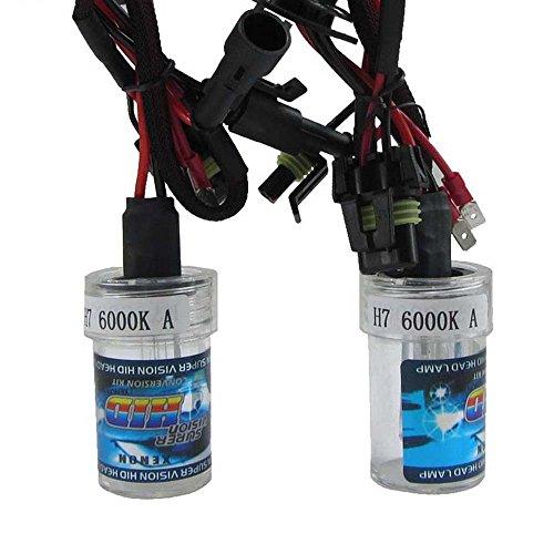 Boomboost New Car Xenon HID Ampoule une paire de xénon HID lampe H7 6000 K