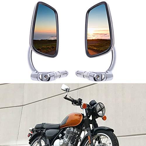 Espejos retrovisor moto manillar, 7/8' 22mm universal espejos laterales aluminio retrovisores cafe racer homologados para Scooter Cruiser Chopper CB1300 CB600F XJR1300