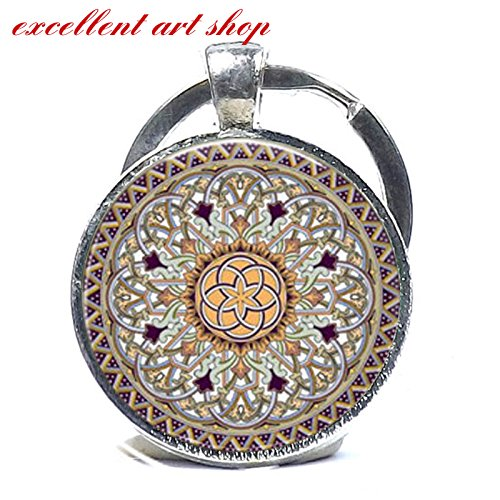 Celtic Keychain Glass Pendant Keychain Celtic Decoration Keyring Gift For Her
