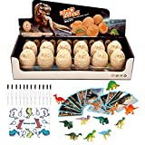 eirix Dinosaur Easter Eggs Dig Kit, 12 Different Dino Fossil Eggs Excavation Educational Science Gifts Dinosaur Digging Eggs for Kids Party Archaeology Paleontology Toy Age of 6 7 8 9 10+ (12 Pack)