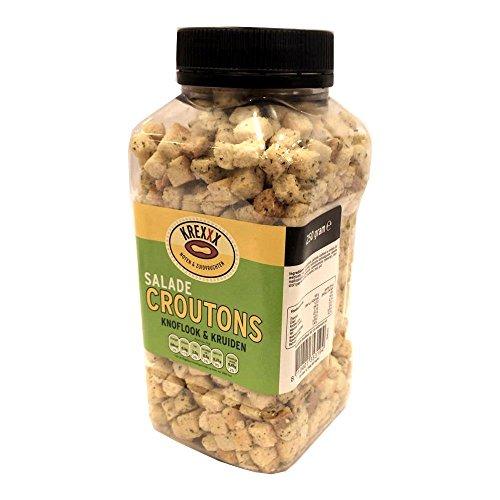 Krexxx Salade Croutons Knoflook & Kruiden 250g Dose (Salat Croutons Knoblauch & Kräuter)