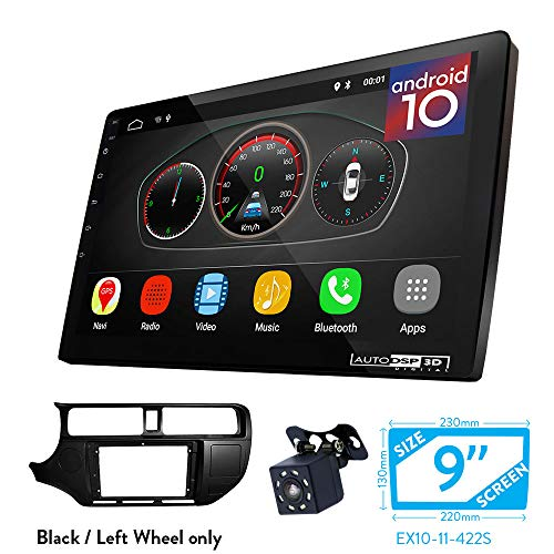 UGAR EX10 9 inch Android 10 DSP Autoradio GPS Navigation + 11-422S Radioblende Dash Installation Faszie Kit für KIA Rio (UB), K3, Pride 2011-2015