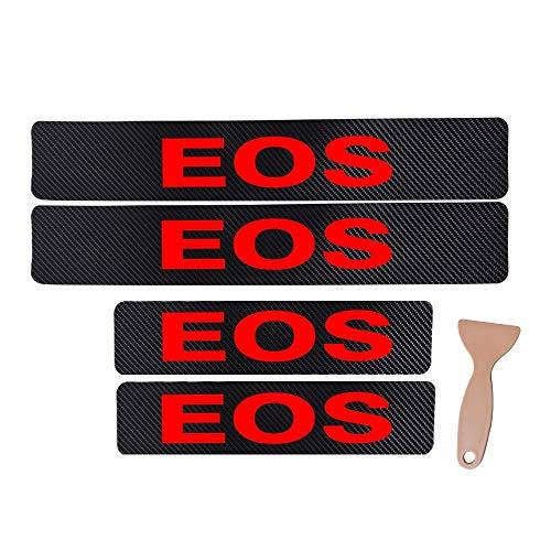 Etiqueta engomada del pedal del umbral del coche de la puerta del coche para for VOLKSWAGEN EOS Decoración de la fibra de carbono Etiqueta de vinilo de fibra de carbono Accesorios para automóviles Est