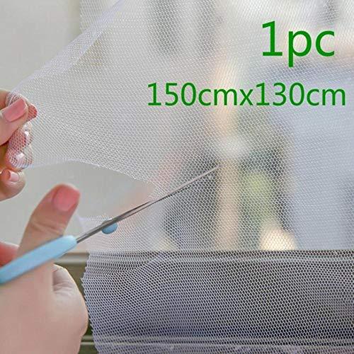 Sosa Home Use Moskito Fenster Mesh Screen Raum Anti Mosquito Net Protector Küche Fly Screen Inset 200cmx150cm DIY, 1pc schwarz