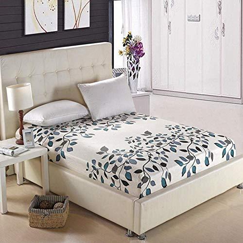 Unknow katoenen beddengoed 150 x 200 cm, beddengoedset met bladmotief van 100% katoen, ook voor dekbedden/tafelkleden/modderbladeren