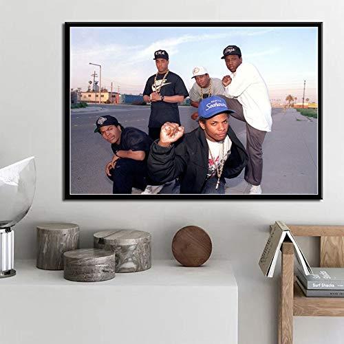 ganlanshu Cuadro en Lienzo póster e Imprimir Rap Music Star Arte de la Pared decoración Imagen decoración del hogar,Pintura sin marco-30X45cm