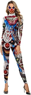 LWWOZL Halloween Costume Horror Variation Clown 3D Print Costume Halloween Night Street Costume (Color : A, Size : L)