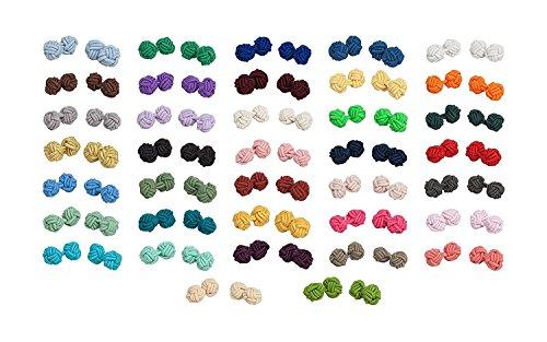 Jacob Alexander Wholesale Lot of 10 Pairs of Silk Knot Men's Cufflinks
