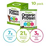 Orgain Organic Plant Based Protein Powder Travel Pack, Creamy Chocolate Fudge - Vegan, Low Net Carbs, Non Dairy, Gluten Free, Lactose Free, No Sugar Added, Soy Free, 10 Count (Packaging May Vary)