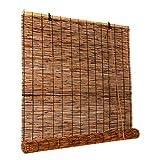 HAOMENGG Estores de Bambú,Natural Cortina de Caña,Cortina de Bambú Impermeable,Hecho A Mano Cortina de Paja,Persianas Enrollables de Bambú,Persianas de Caña,Personalizables (100x120cm/39x47in)