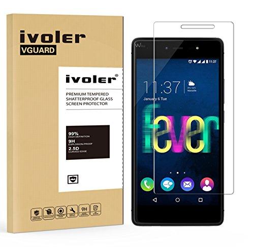ivoler Panzerglas Schutzfolie für Wiko Fever 4G / Wiko Fever Special Edition [9H Festigkeit] [Anti- Kratzer] [Bläschenfrei] [2.5D R&e Kante]