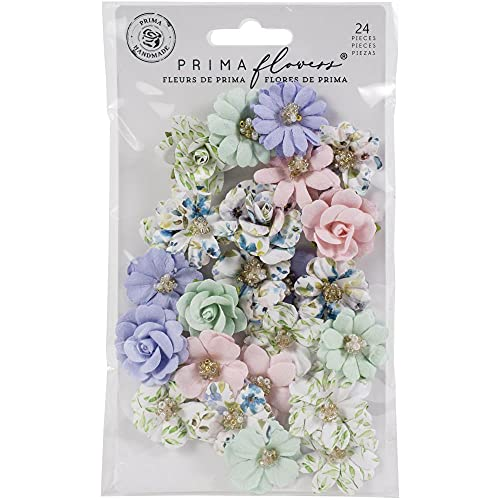 Prima Marketing Mulberry Paper Flowers-Watercolor Floral 653101