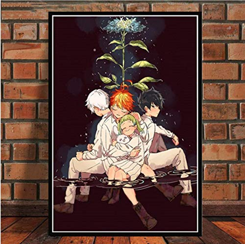 Cartoon Anime Das Versprechen Niemals Land Wohnzimmer Wohnkultur Kinderzimmer Wanddekorationen Leinwand Malerei Poster Kunst Dekor 40X50Cm Cdl-341