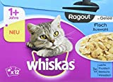 Whiskas Comida húmeda para Gato Adult 1+, 48Bolsas (4x 12x 85g)