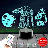 Holinox Star Wars Lamp Death Star 3D Light Awesome Gift for Star Wars Fans 75159 (MT403) Starwars Gifts