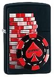 Zippo Poker Coins Mechero de Gasolina, latón, Acero, 1 x 6 x 6 cm
