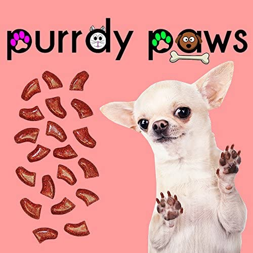 Purrdy Paws 40-Pack Soft Nail Caps Glitt Ruby RED Dedication Ranking TOP4 Dogs Claws for