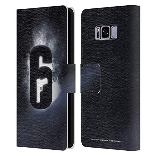 Head Case Designs Officially Licensed Tom Clancy's Rainbow Six Siege Glow Logos Leather Book Wallet Case Cover Compatible with Samsung Galaxy S8