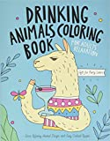 Drinking Animals Coloring Book: A Fun Coloring Gift Book for Party Lovers & Adults Relaxation with Stress Relieving Animal Designs, Quick and Easy Cocktail Recipes
