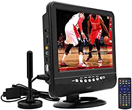 9Inch Portable TV for ATSC Digital TV Viewing in The US,Canada,Mexico,USB/TF/AV in Player,Support for 720P Video Player Black