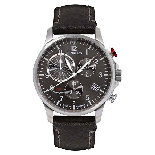Junkers Herren Chronograph Quarz Uhr mit Leder Armband 68922