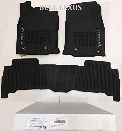 Lexus OEM Factory All Weather Floor MAT Liner Set 2016-2020 GX460 Black