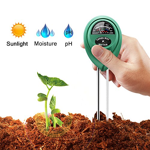 MARGE PLUS Soil Tester Moisture Meter, 3 in 1 Soil Test Kit Gardening Tools for PH, Light & Moisture, Plant Tester for Home, Farm, Lawn, Indoor & Outdoor (No Battery Needed)