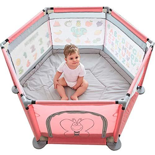 HKIASQ Corralito para Bebés Y Niños Pequeños, Parque Infantil para Bebés Y Niños Pequeños, Parque Infantil Interior, Parque De Tiro, Parque Infantil Portátil De Seguridad Al Aire Libre
