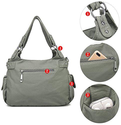 Fashion Shopping Scarleton Satchel Handbag for Women, Ultra Soft Washed Vegan Leather Crossbody Bag,