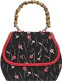 Küstenluder Damen Tasche Gwen Tiki Vintage Geisha Handtasche Schwarz