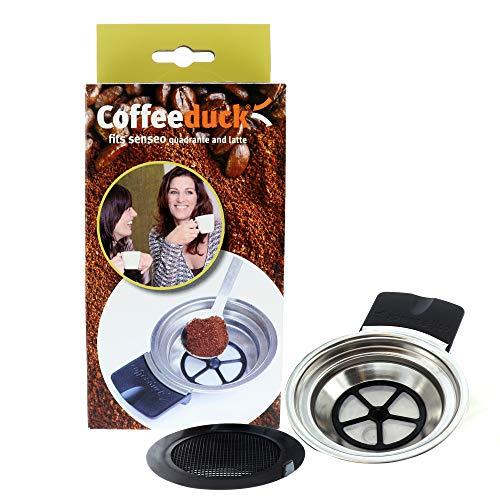 ohmtronixx Permanent Kaffeefilter nachfüllbar, Kaffeepadmaschinen, ersetzt Kaffeepads, geeignet für Coffeeduck 3 Senseo Quadrante HD7860 und Senseo Latte HD7850, HD7860, HD7825, HD7863, HD7825, HD7885